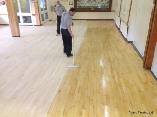 Applying the first coat at Holymoorside, Chesterfield